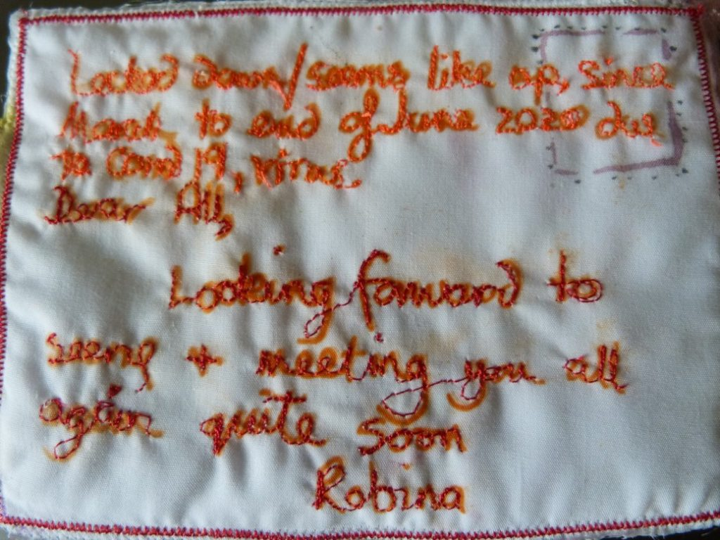 Robina back of postcard