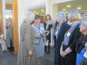 Jan 20 Margaret Heath being presented to HRH Camilla