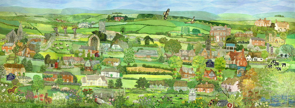 Upper Kennet Valley wallhanging