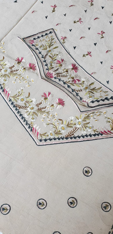 embroidered silk for waistcoat