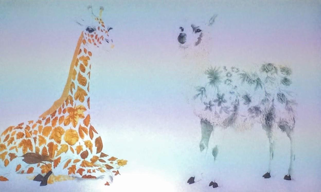 giraffe and alpaca
