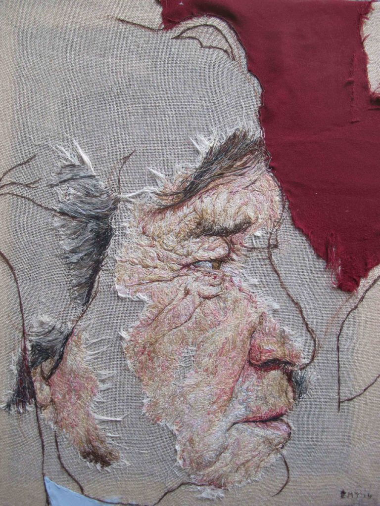 IMAGE Lord Melvyn Bragg hand stitched