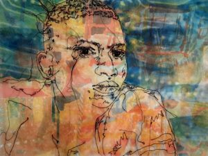 Andrea coloured background portrait Feb 2021