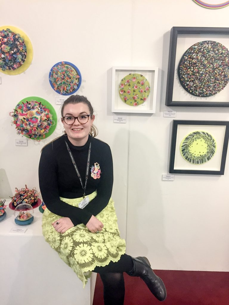 Jessica with her work