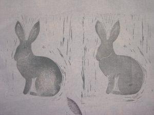 Tase lino print